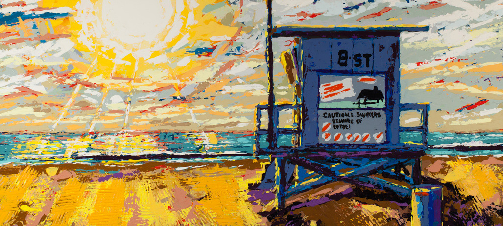 Paintings from Sunset Series by Spence Munsinger, Color Field + Blank White Canvas + Realism + Contemporary Abstract Art, original paintings for sale