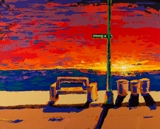 Sunset Series of paintings by Spence Munsinger, gallery, Sunset Series