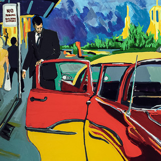 Past Works | Taxi 1954, painting by Spence Munsinger, color fields + realism + contemporary abstract art