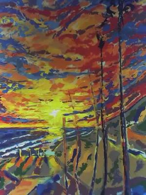 sunset #13 in progress