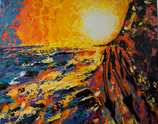 Butterfly Beach, acrylic on canvas, ©2012 by Spence Munsinger